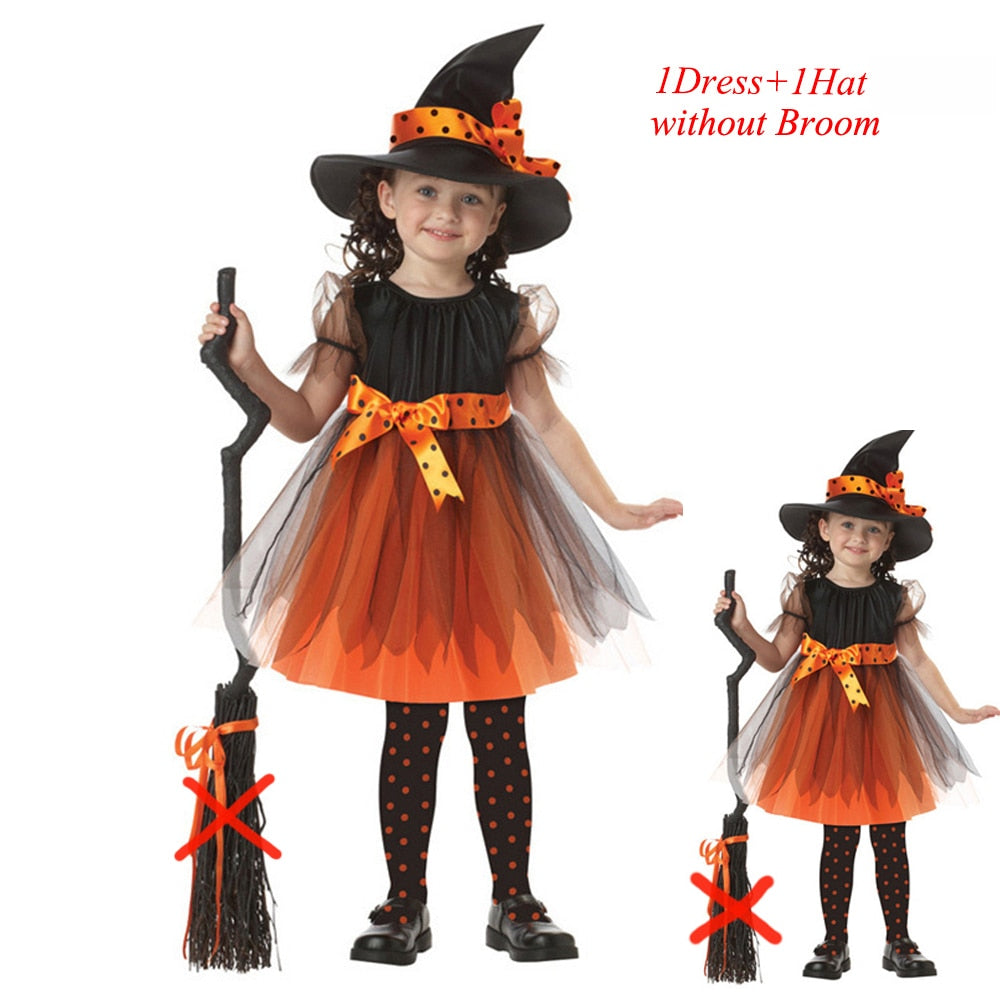 Toddler Witch Costume Girls Halloween Sorceress Costume - ChildAngle