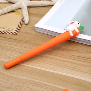 Rabbit Carrot Bunny Gel Pen Signature Pen - ChildAngle