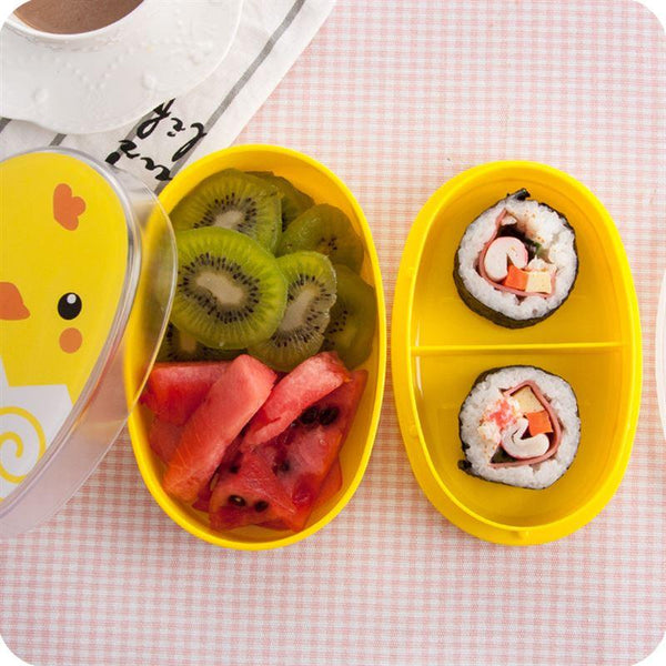 700ml Double Layers Cartoon Plastic Lunch Box - ChildAngle