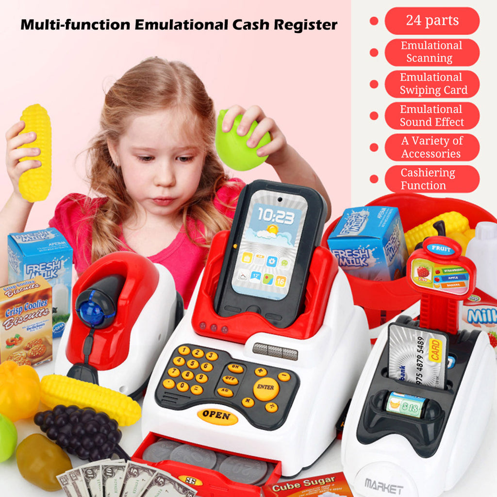 Classic Supermarket Cash Register Kits - ChildAngle