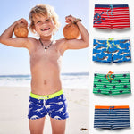 Load image into Gallery viewer, Toddler Boy Skull Pattern Kid Striped Swimming Shorts - ChildAngle