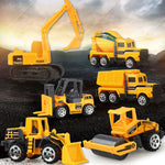 Load image into Gallery viewer, Yellow 6PCS/Set Baby Engineering Cars Toy - ChildAngle