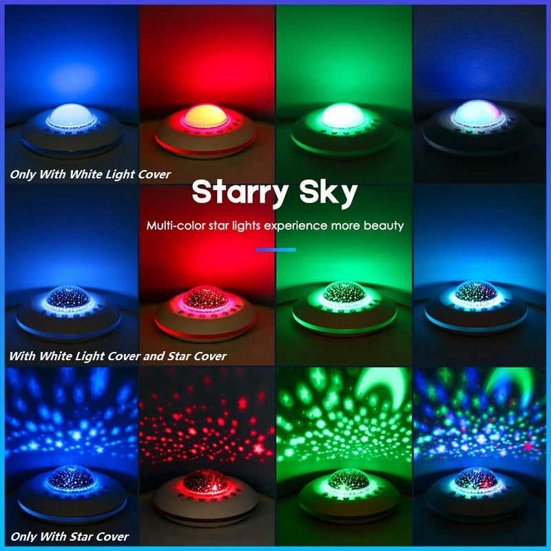 White Noise Machine Baby Sleeping Nature Sound Star Projector Light