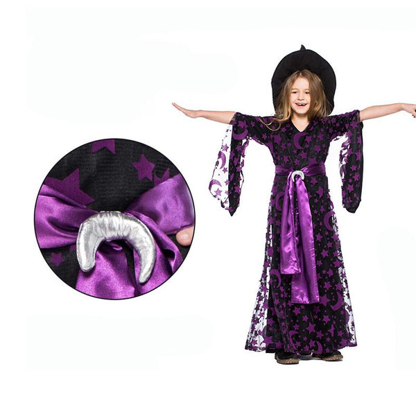 Purple Witch Dress Halloween Costume