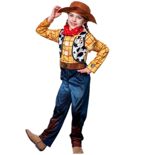 Woody Halloween Costume Toddlers Toy Story 4 Outfit with Hat - ChildAngle