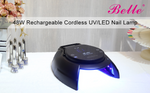 Belle 48W Rechargeable Cordless LED UV Nail Lamp with 4 Timer Setting Touch Screen LED Display