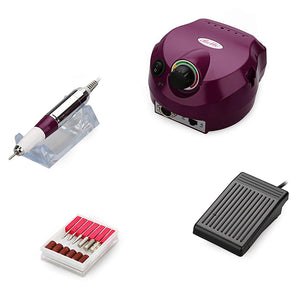 Belle Electric Professional 30000RPM Nail Drill Nail File Drill E File Nail Drill Set,110V,Purple