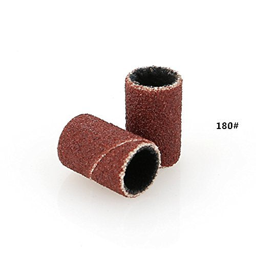 "Belle 300pcs Sanding Bands Bits, Normal 80# 120# 180# Grit each 100pcs,1/4"" dia x 1/2"""