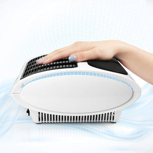 Belle Oval Powerful Nail Dust Collector Nail Vacuum Cleaner Machine with No-spilling Filter, White