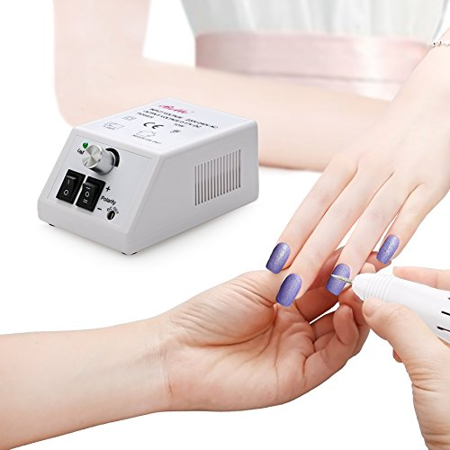 Belle 20,000 RPM Nail Drill Electric Manicure Pedicure File Machine for Acrylic Gel Nails, White