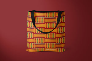 Mensah - Tote bag fermeture zip motif kenté