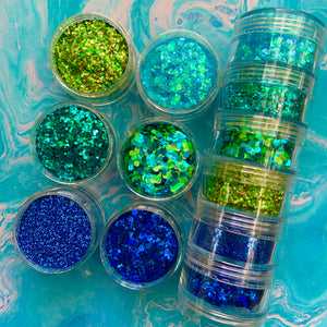 Deep Sea Glitter Stacker