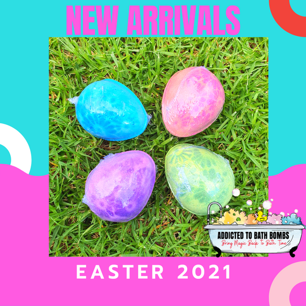 Easter Egg Bath Bombs in PINK  - Amazing Grace Scent