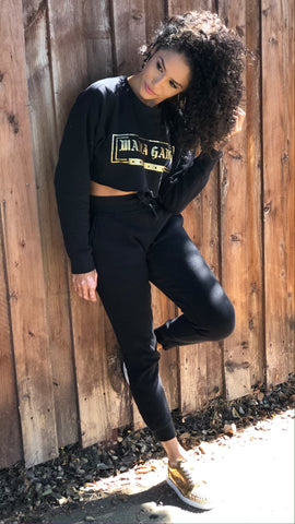 Sweat Set - cropped crew neck and matching joggers
