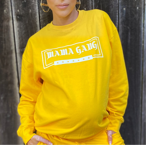 Sunshine Yellow top. Option- crew neck full sweater / off shoulder/ crop