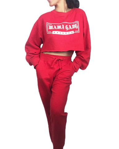 Made to order! Red Mama Gang sweatset