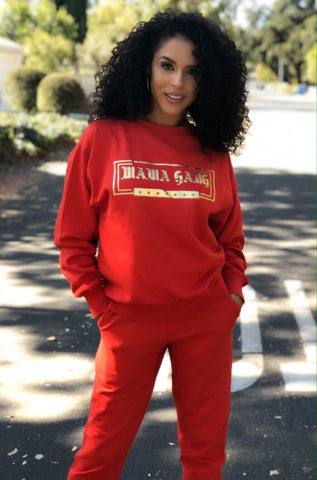 PRE-ORDER Red Crew Neck Sweat set (sweater and joggers)