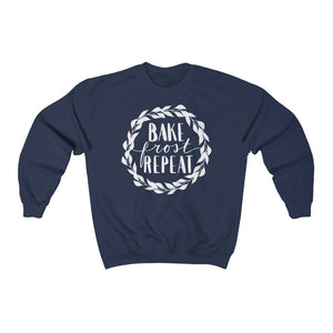 (a) Bake Frost Repeat Unisex Heavy Blend™ Crewneck Sweatshirt