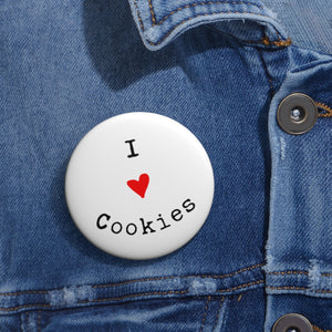 I Love Cookies Pin Button