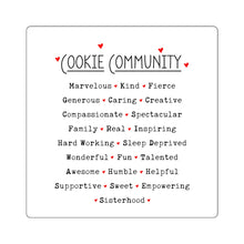 Load image into Gallery viewer, Cookie Community Square Sticker