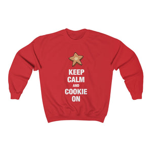 Keep Calm and Cookie On Unisex Heavy Blend™ Crewneck Sweatshirt