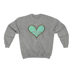 Made With Love Green Heart Sweatshirt