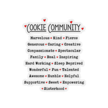 Load image into Gallery viewer, Cookie Community Kiss-Cut Sticker