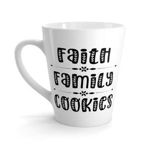Faith Family Cookies Latte Mug