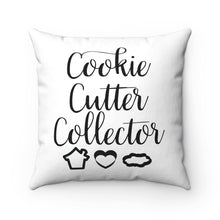 Load image into Gallery viewer, Cookie Cutter Collector Spun Polyester Square Pillow