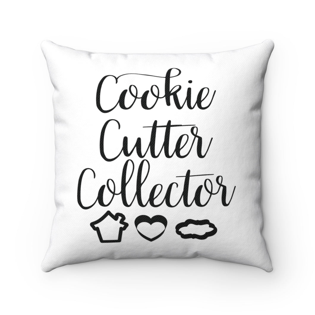 Cookie Cutter Collector Spun Polyester Square Pillow