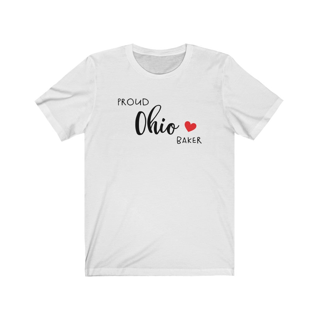 Proud Ohio Baker Bella+Canvas 3001 Unisex Jersey Short Sleeve Tee