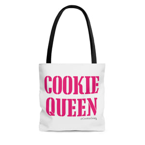 Cookie Queen Pink AOP Tote Bag