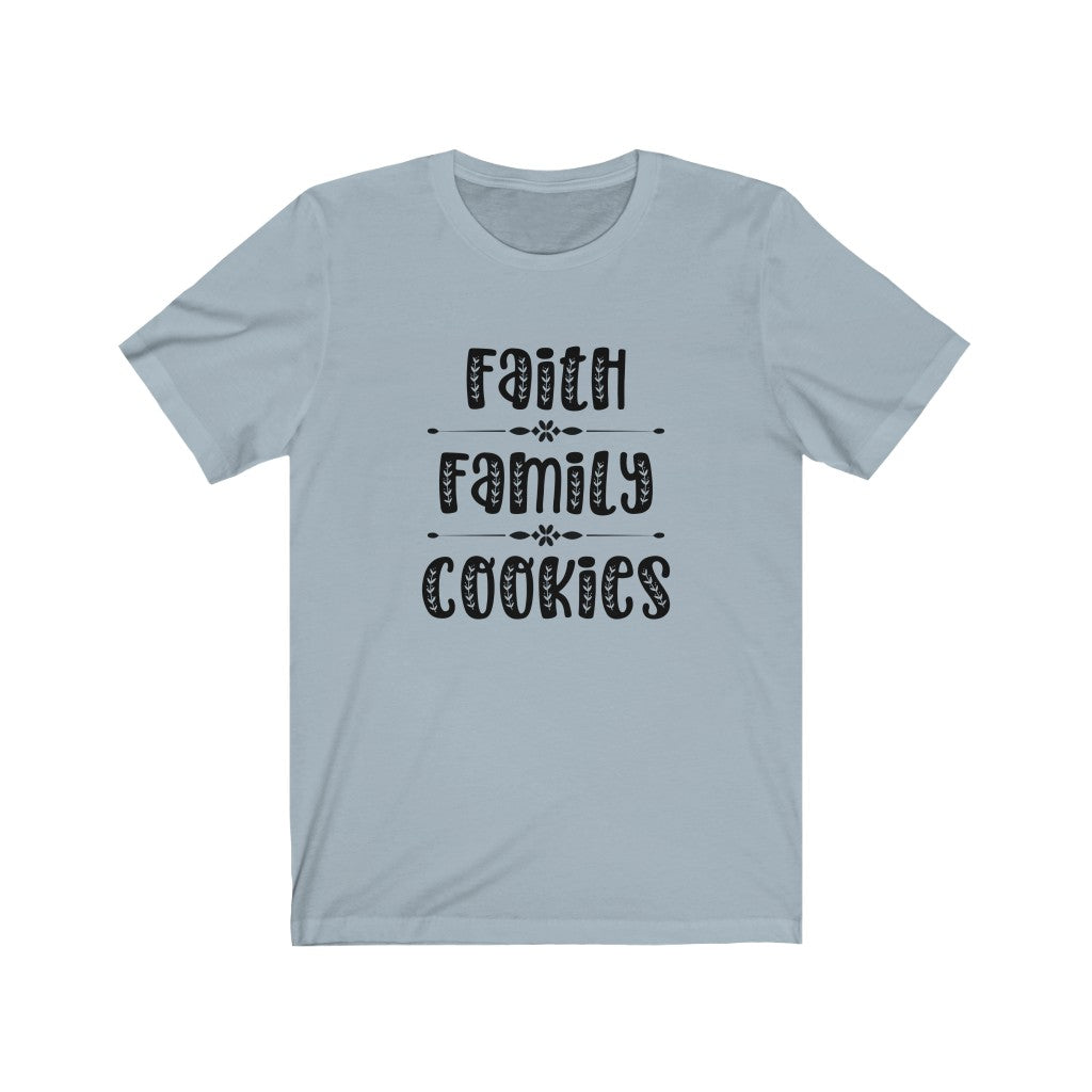 Faith Family Cookies Bella+Canvas 3001 Unisex Jersey Short Sleeve Tee