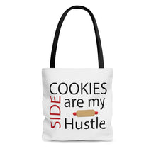 Load image into Gallery viewer, Cookies are my Side Hustle AOP Tote Bag