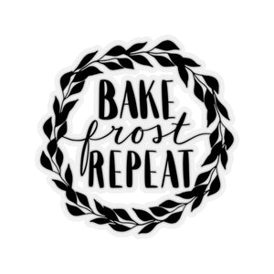 (a) Bake Frost Repeat Kiss-Cut Sticker