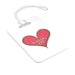 (b) Made With Love Pink Heart Bag Tag