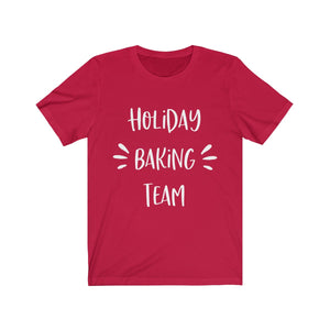 Holiday Baking Team(3) Bella+Canvas 3001 Unisex Jersey Short Sleeve Tee