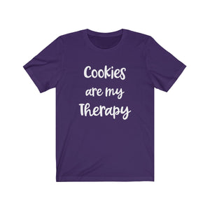 Cookies are my Therapy Bella+Canvas 3001 Unisex Jersey Short Sleeve Tee