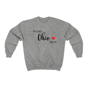 Proud Ohio Baker Unisex Heavy Blend™ Crewneck Sweatshirt