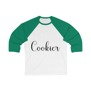 Cookier Bella+Canvas 3200 Unisex 3/4 Sleeve Baseball Tee