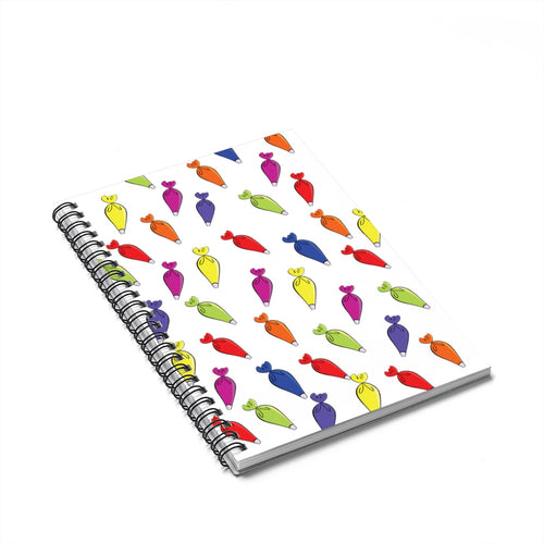 Piping Bag Spiral Notebook - Ruled Line