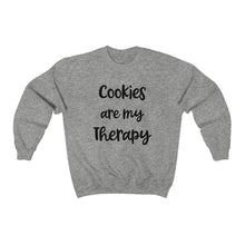 Load image into Gallery viewer, Cookies are my Therapy Gildan 18000 Unisex Heavy Blend™ Crewneck Sweatshirt