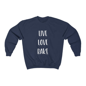 Live Love Bake Unisex Heavy Blend Crewneck Sweatshirt