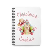 Load image into Gallery viewer, Christmas Cookies Spiral Notebook - Ruled Line