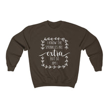Load image into Gallery viewer, (a) I Know The Sprinkles Are Extra Unisex Heavy Blend™ Crewneck Sweatshirt