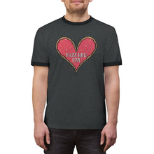 Load image into Gallery viewer, (b) Made With Love Pink Heart Unisex Ringer Tee