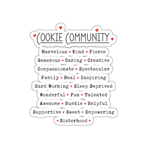 Cookie Community Kiss-Cut Sticker