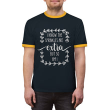 Load image into Gallery viewer, (a) I Know The Sprinkles Are Extra Unisex Ringer Tee