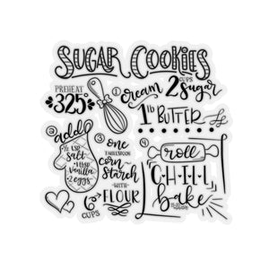 (b) Sugar Cookie Recipe Kiss-Cut Sticker