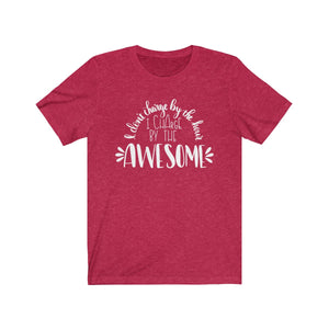 I Charge By The Awesome Bella+Canvas 3001 Unisex Jersey Short Sleeve Tee